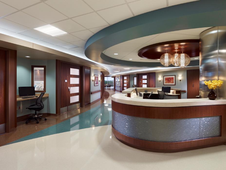 Rendering Nurses Station Baylor Medical Center At Mckinney